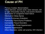 cause of ph