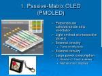 1 passive matrix oled pmoled