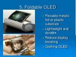 5 foldable oled