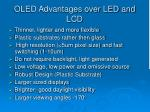 oled advantages over led and lcd