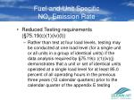 fuel and unit specific no x emission rate1