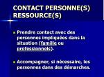 contact personne s ressource s