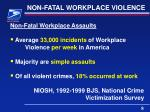 non fatal workplace violence