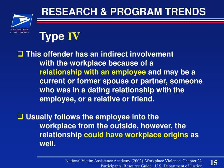 RESEARCH & PROGRAM TRENDS