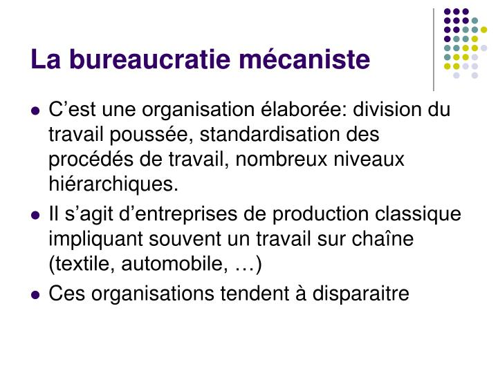 La bureaucratie mécaniste