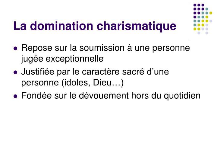 La domination charismatique