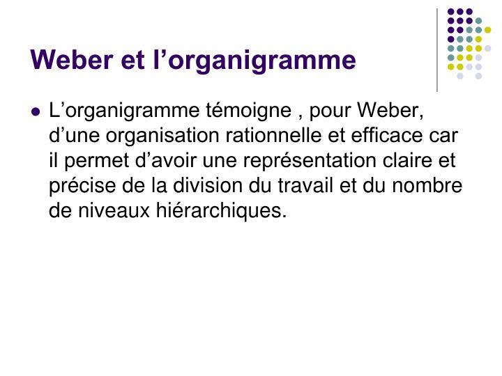 Weber et l'organigramme
