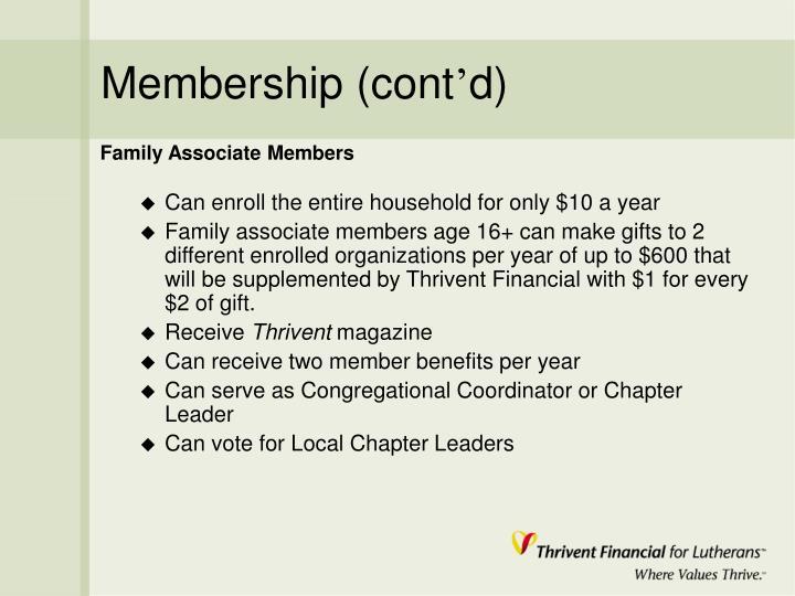 Membership (cont