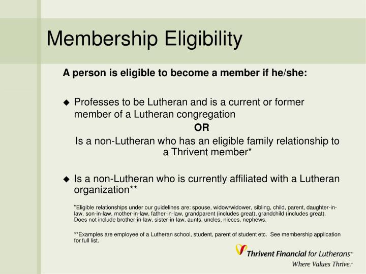 Membership Eligibility