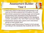 assessment builder year 4
