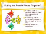 putting the puzzle pieces together