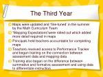 the third year