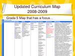 updated curriculum map 2008 2009