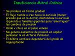 insuficiencia mitral cr nica