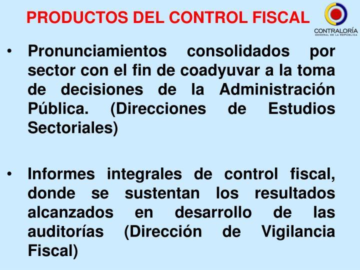 PRODUCTOS DEL CONTROL FISCAL