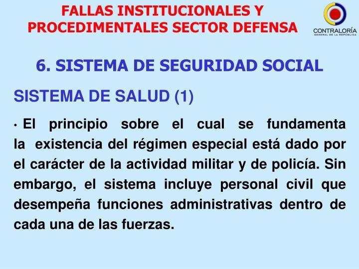 FALLAS INSTITUCIONALES Y