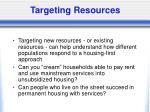 targeting resources
