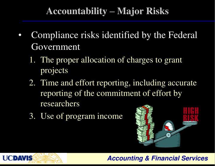 Accountability – Major Risks