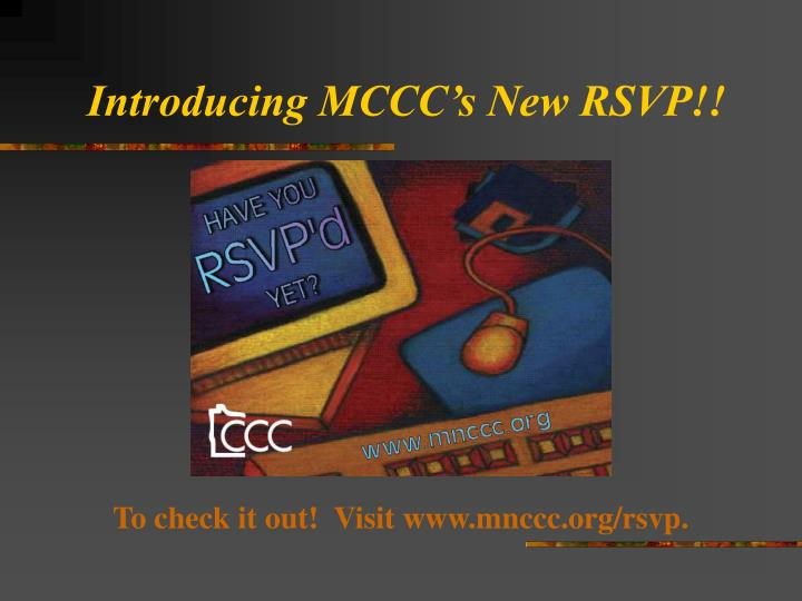 Introducing mccc s new rsvp