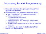 improving parallel programming