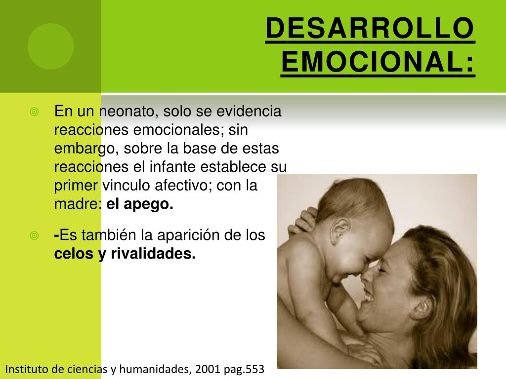 DESARROLLO EMOCIONAL:
