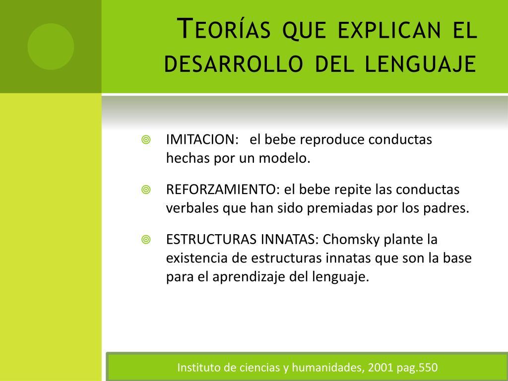 Teorías que explican el desarrollo del lenguaje