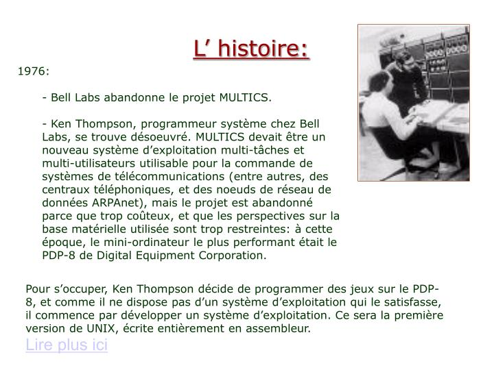l histoire n.