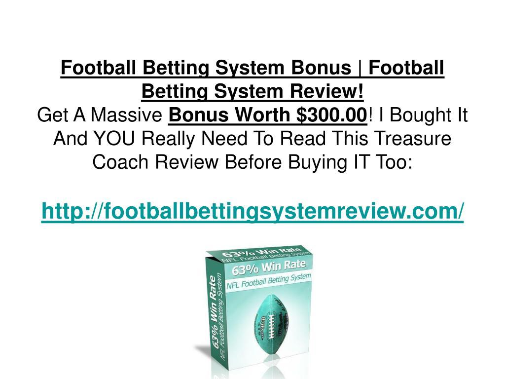 Football Betting System Bonus | Football Betting System Review!