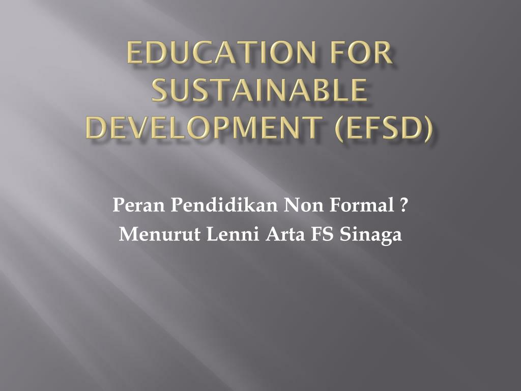 Education for Sustainable Development (