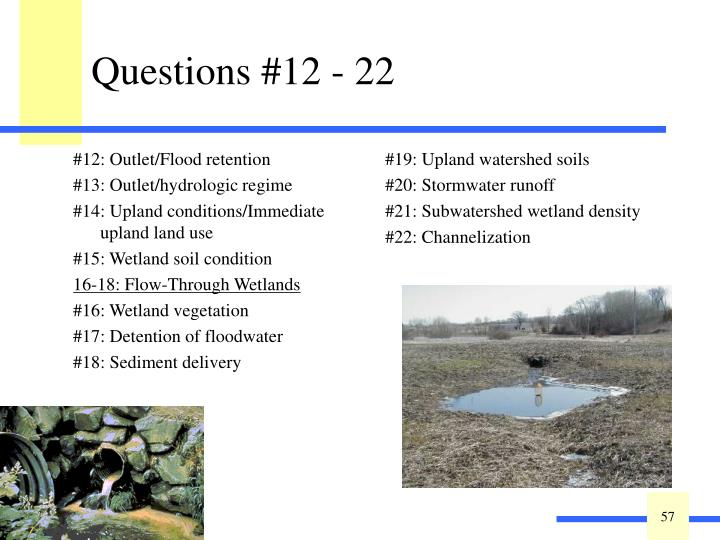 #12: Outlet/Flood retention