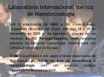 laborat rio internacional ib rico de nanotecnologia