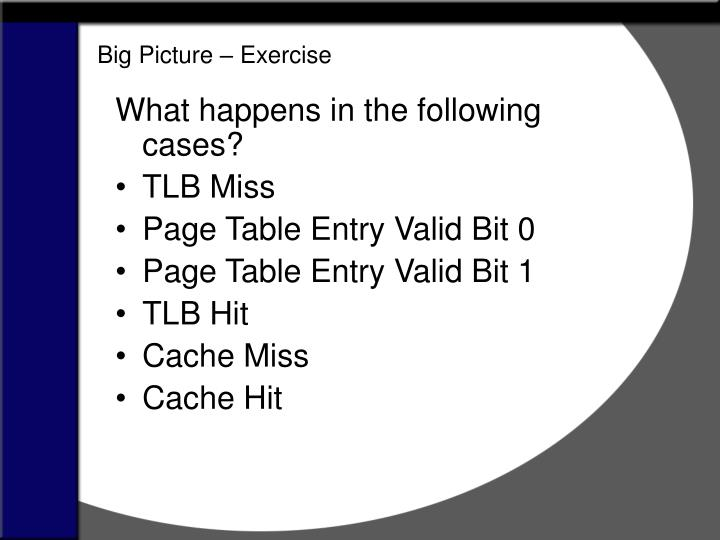 Big Picture – Exercise