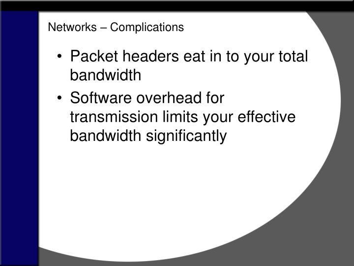 Networks – Complications