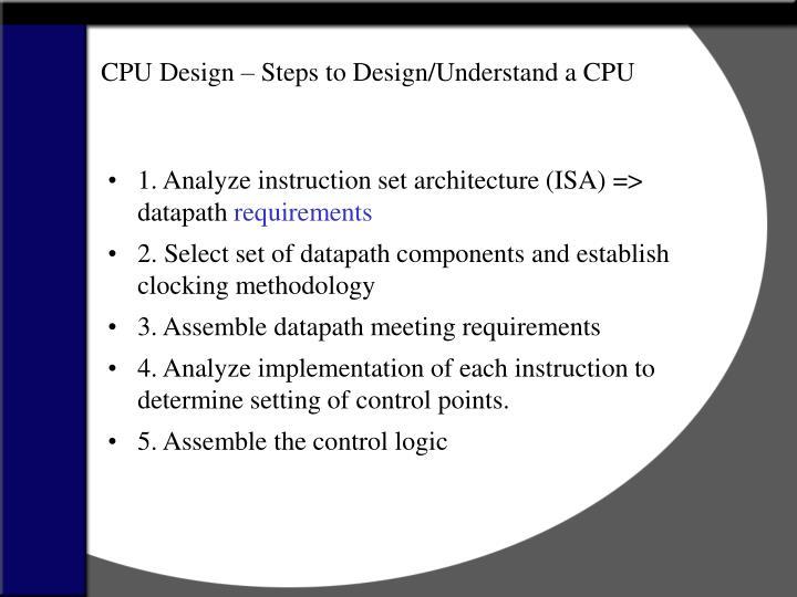 CPU Design – Steps to Design/Understand a CPU