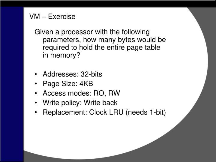 VM – Exercise