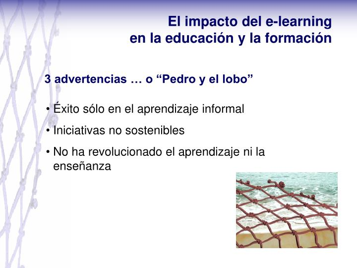 El impacto del e-learning