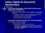 valeur l gale du document lectronique