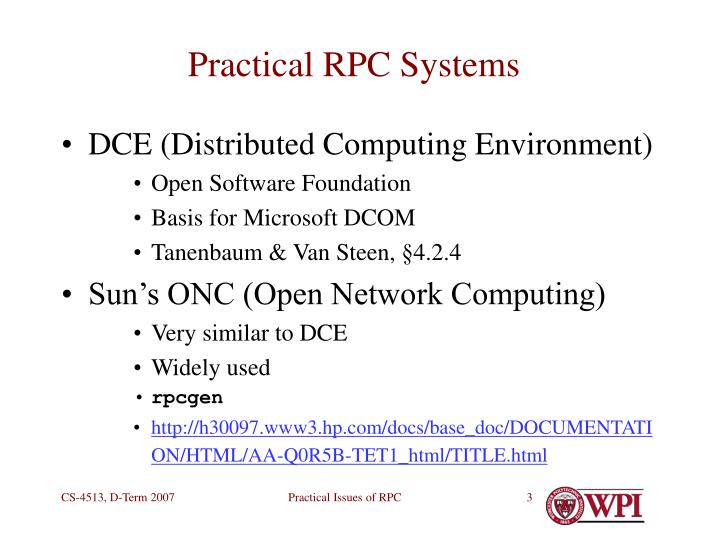 Practical rpc systems
