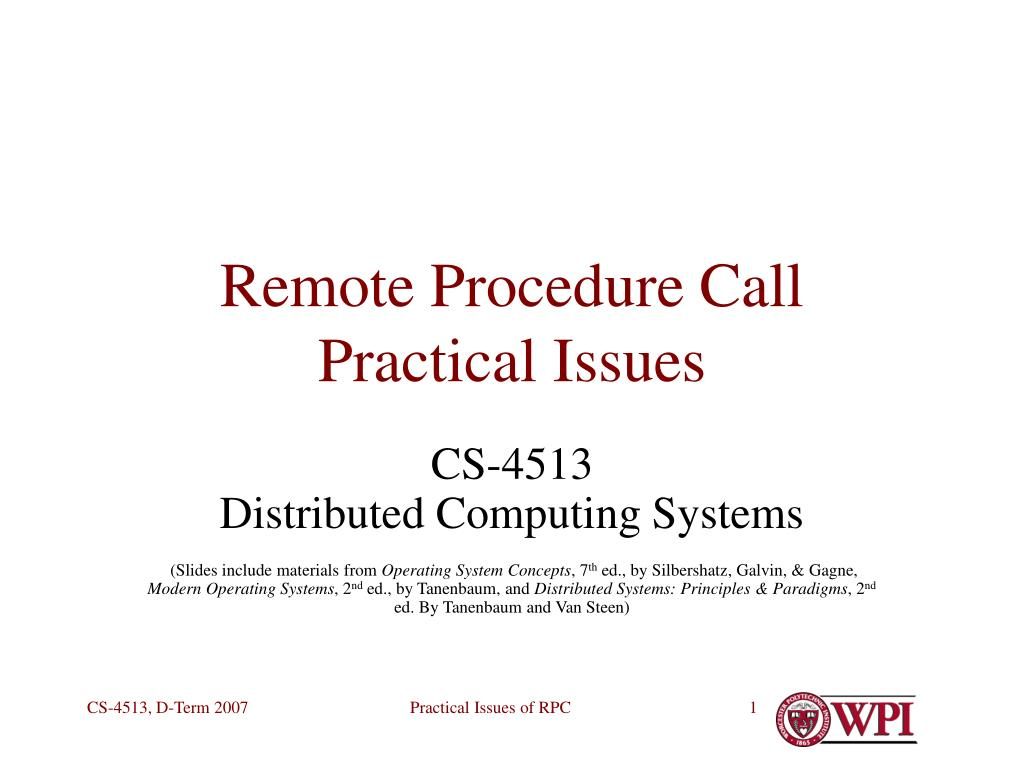remote procedure call practical issues l.