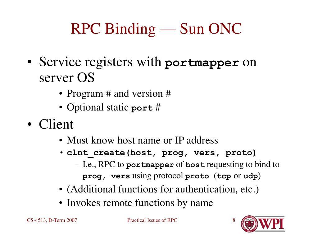 RPC Binding — Sun ONC