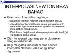 interpolasi newton beza bahagi
