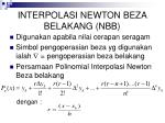 interpolasi newton beza belakang nbb