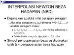 interpolasi newton beza hadapan nbd