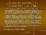 lat 2003 m baland io 14 d nutartis c b nr 3k 3 485