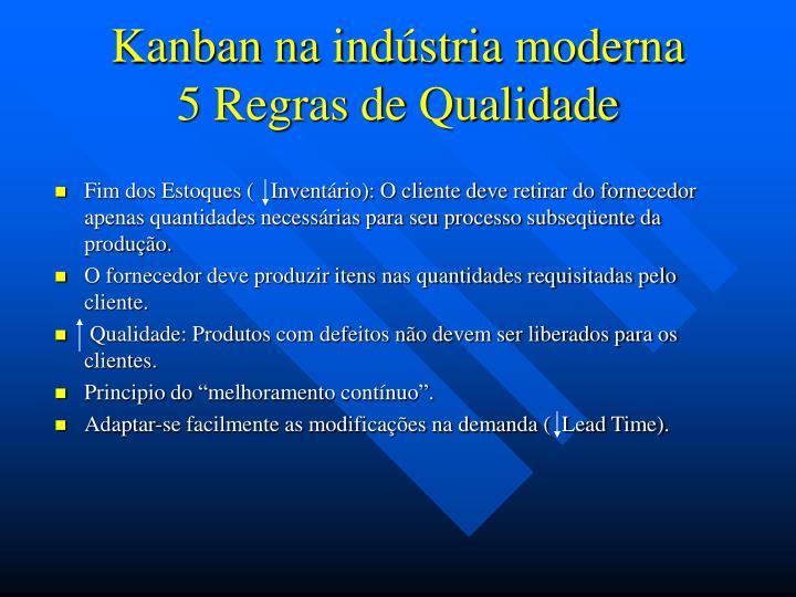 Kanban na indústria moderna