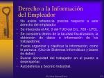 derecho a la informaci n del empleador