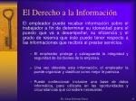 el derecho a la informaci n