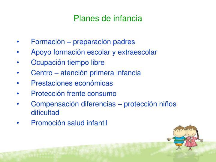 Planes de infancia