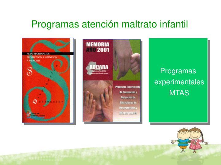 Programas atención maltrato infantil