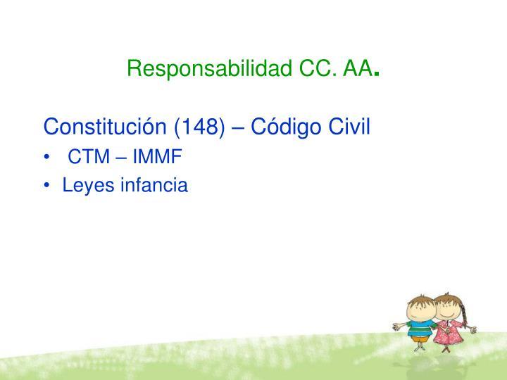Responsabilidad CC. AA